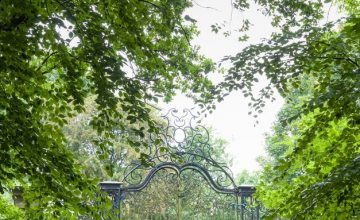 Grade II listed entrance gates at RHS Garden Bridgewater