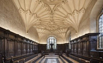 Photography by Dan Paton showcasing Convocation Hall - part of the Bodleian Libraries, University of Oxford, Oxford, UK