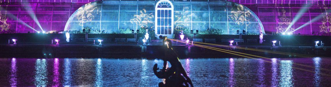 KEW BOTANICAL GARDENS MAGICAL LIGHT DISPLAY AND WINDSOR CASTLE